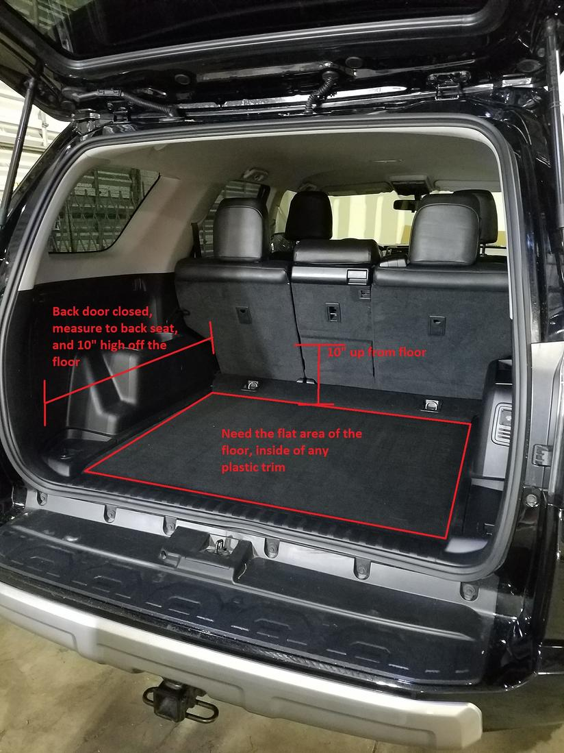 Rear Cargo Space Dimensions Needed Please Toyota 4runner Forum